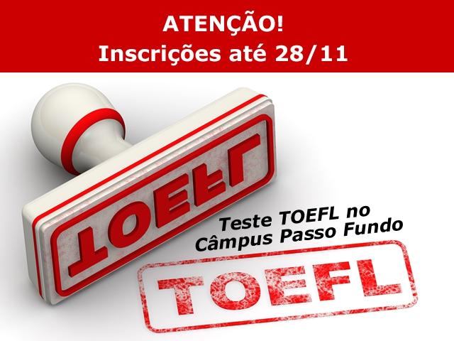 Teste TOEFL no Câmpus Passo Fundo