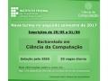 Inscrições para o Curso de Bacharelado em Ciência da Computação