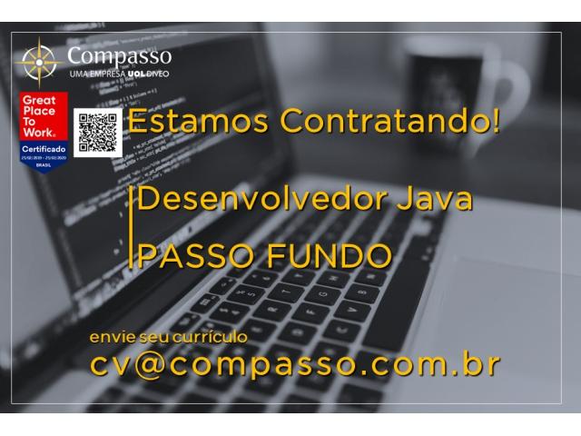 Vaga para Desenvolvedor Java SR na Compasso Tecnologia