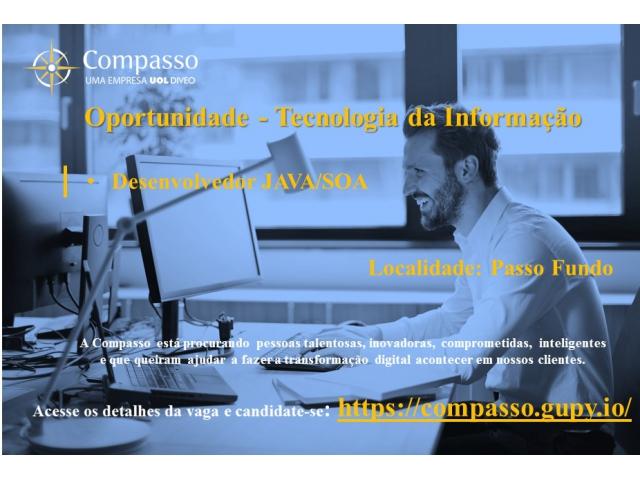 Vaga para Desenvolver Java/SOA na Compasso em Passo Fundo