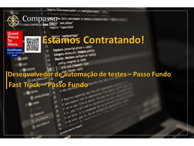 Vaga para Desenvolvedor de automação - Fast Track – Passo Fundo